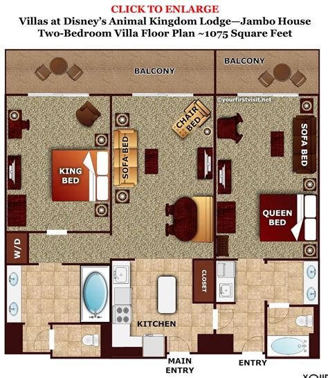animal kingdom lodge 2 bedroom villa floor plan review disney s animal kingdom villas jambo house page 5