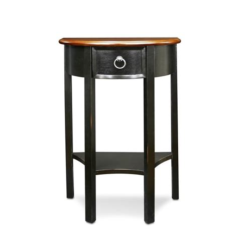 slate accent table leick favorite finds demilune accent table in slate 9030 sl