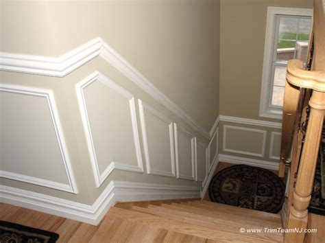 Wainscoting Molding Trim by Wainscot And Picture Frames Contemporary Staircase