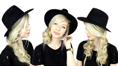 Hairstyles With Hats by Hairstyles For Hats Hair Tutorial