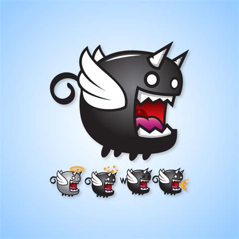 Cute House Designs flying villain game character flappy darkness beast