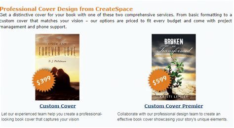 book layout design costs what happened to createspace s book cover design prices