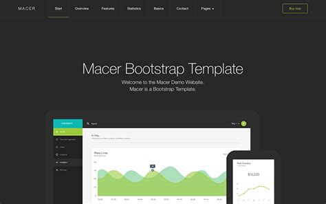 macer app landing page template bootstrap business