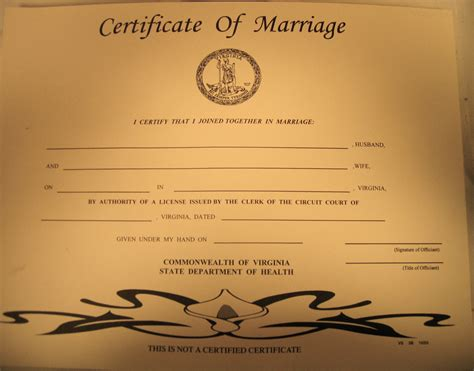 State Of Virginia Marriage Records Keepsake Marriage Certificate It S As Isn T It