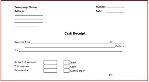 doc 600600 download a free cash receipt template for