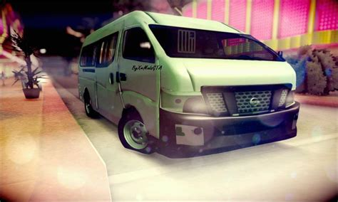 nissan urvan modification gta san andreas nissan nv350 urvan 2015 mod gtainside com