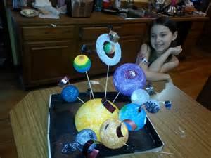 3rd grade 3d solar system project