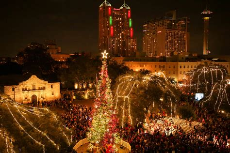 san antonio kicks off the holidays with glowing lights