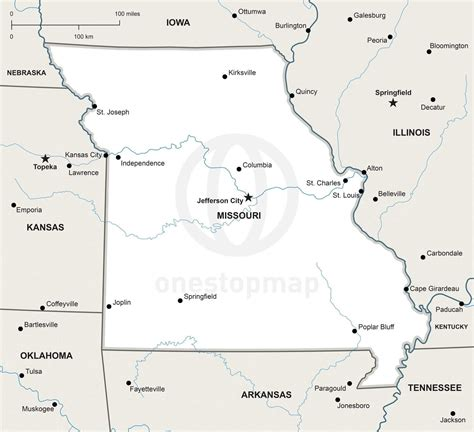 missouri map data 2015 vector map of missouri political one stop map