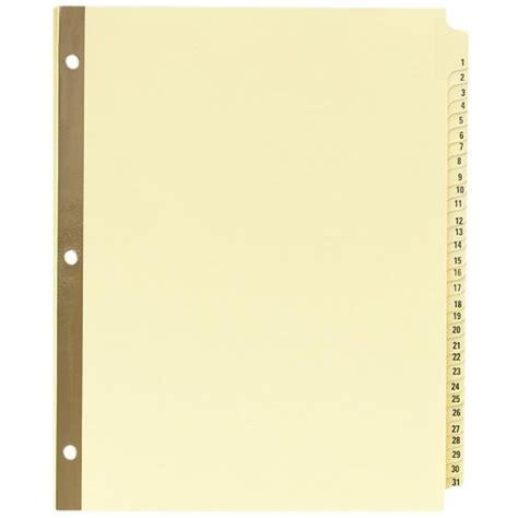 avery ready index template 31 tab avery preprinted dividers with 1 31 tabs 31 tab set