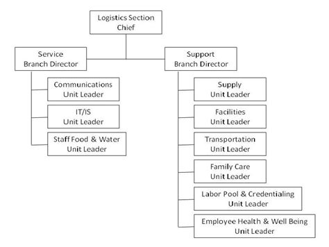 ics logistics section chief logistics section hospital incident command system
