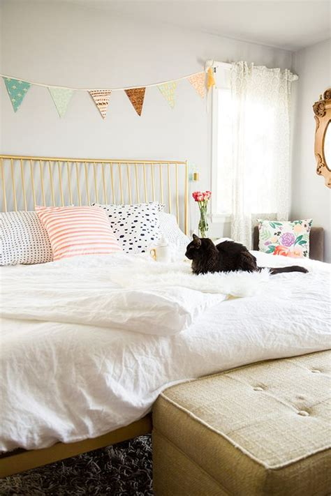 cozy bedroom colors friday favorites pastel accent colors and gold bed