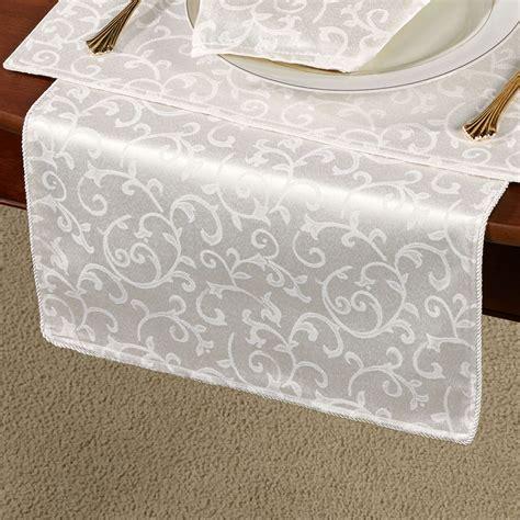 lenox opal innocence table linens lenox opal innocence acanthus table runner and linens