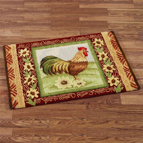 country kitchen rugs rooster kitchen rugs creating a country kitchen nuance