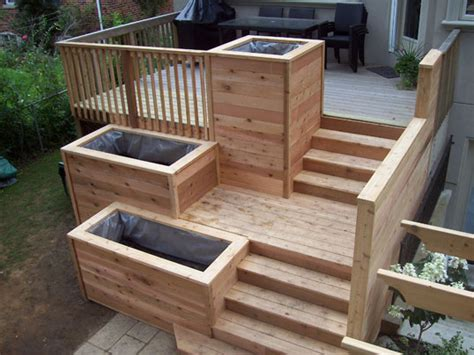 Planters Made From Decking by Built In Deck Planters Gardens