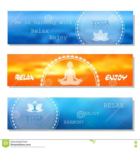banner design for yoga yoga vector banner stock vector illustration of