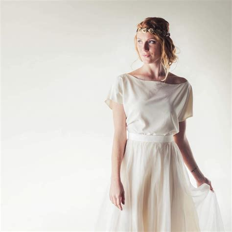 Ivory silk blouse, handmade in Italy by Larimeloom