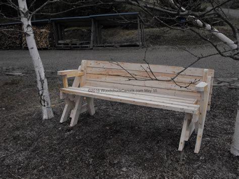 folding bench picnic table plans 2 215 4 folding bench picnic table woodchuckcanuck com
