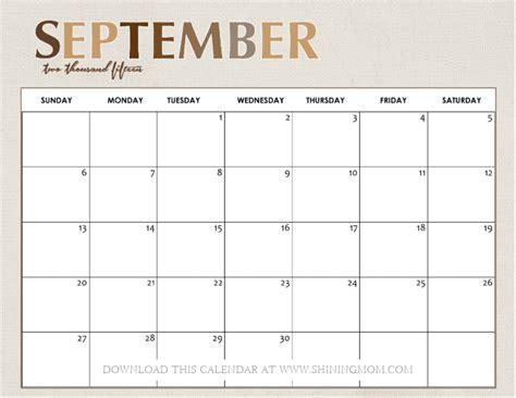 Calendar For Sept 2015 All Lovely 10 Free Calendars For September 2015