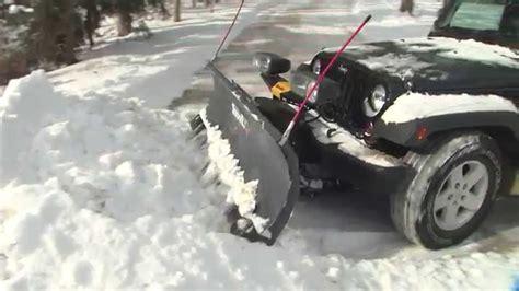 light duty snow plow light duty snowex 174 snow plows youtube