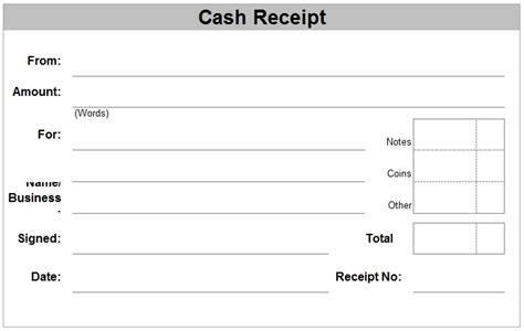 Template For Money Receipt by Free Receipt Forms