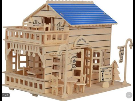 Model House Kits by 3d Assembly Model Building Kits Coffee Shop Model House