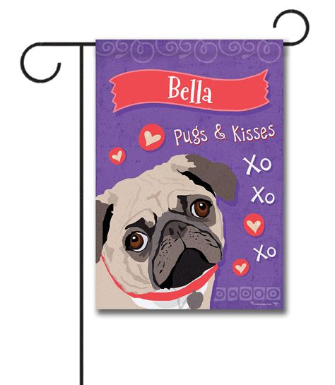 pug garden flags personalized pug garden flag 12 5 x 18 custom printed flags flagology