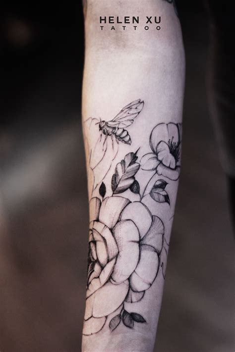 small whimsical tattoos small flower line watercolor unique