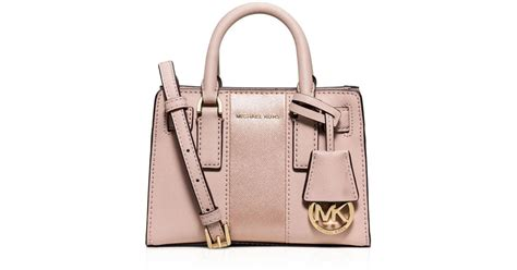 Selendang Michael Kors Original Mk Stripes Scarf Pink lyst michael michael kors metallic stripe mini dillon crossbody in pink