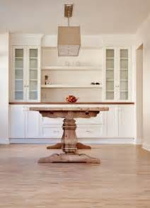 Built In Dining Table Custom Dining Room Built In My Work Trestle Table Cabinets And Built Ins