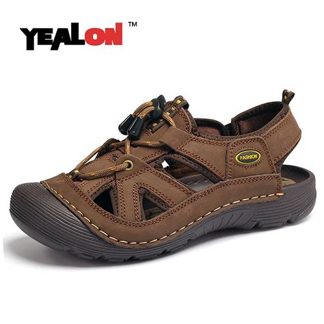 best sandals for trekking yealon outdoor hiking sandals shoes genuine leather
