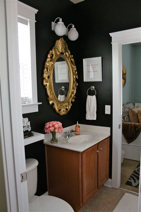 dark paint in small bathroom all that glitters is gold 10 drop dead gold bathrooms