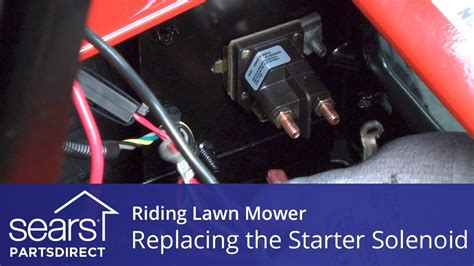 how to wire a starter solenoid on a lawn tractor wiring