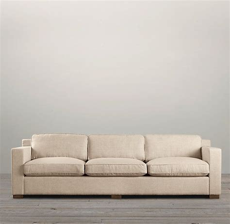 restoration hardware collins sofa collins upholstered sofas squared higher arms loose