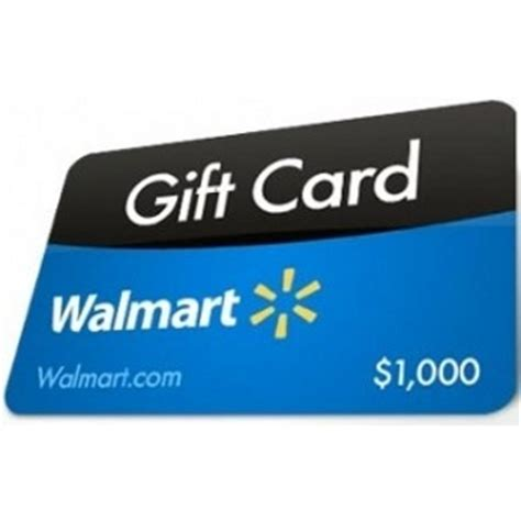 Wallmart Gift Cards - 1000 00 walmart gift card