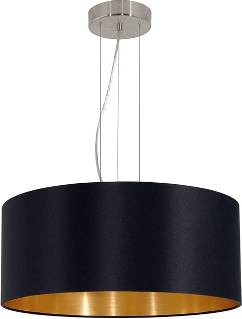 Eglo 31605a Maserlo Contemporary Satin Nickel Drum Pendant Contemporary Pendant Lighting Fixtures