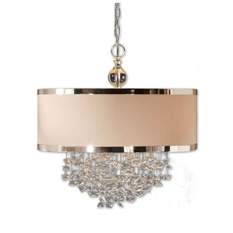 Pendant Lighting Drum Shade Three Light Drum Shade Pendant With Accents 21908 Destination Lighting