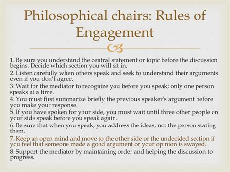Philosophical Chairs by Ppt The And The Sea Powerpoint Presentation Id