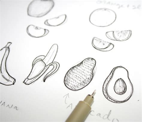 fruit drawings fruits of your labor how to draw fruit