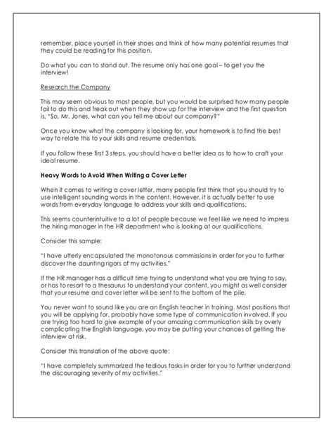 writing an impressive cover letter how to write impressive resume and cover letter