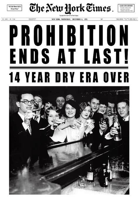 prohibition ends prohibition ends at last headline 1933 white digital art
