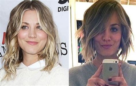 haley cuco cuts off hair in 2014 kaley cuoco chops off hair photo canada journal news