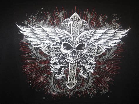 biker cross tattoos 45 best free biker skull and cross wallpapers