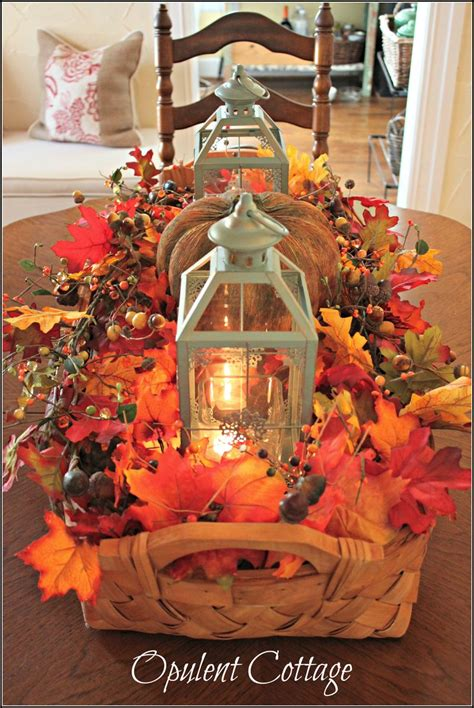 decorations for fall harvest opulent cottage fall harvest basket centerpiece
