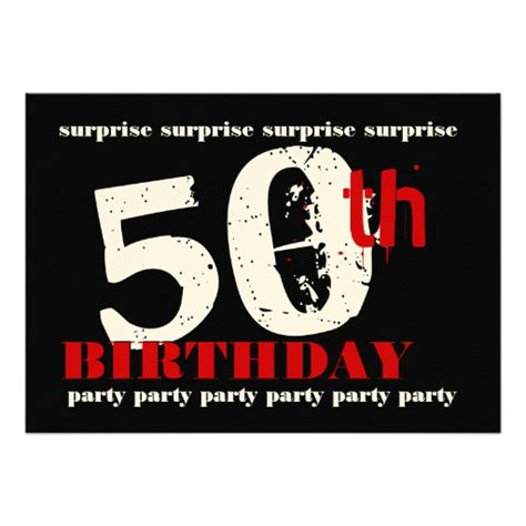 50th surprise birthday party invitation template zazzle