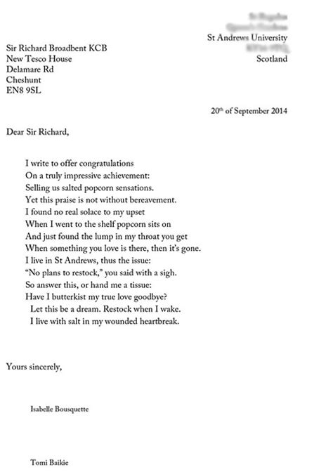Customer Delight Letter Tesco From Disappointment To Customer Delight That S Poetry Customerthink
