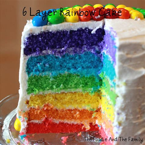 layered rainbow 6 layer the foodie and the family