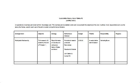 operations plan template it operational plan template plan template