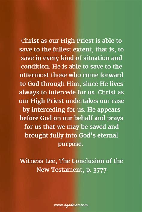 He Is Able To Save To The Uttermost by As Our High Priest Is Able To Save Us To The