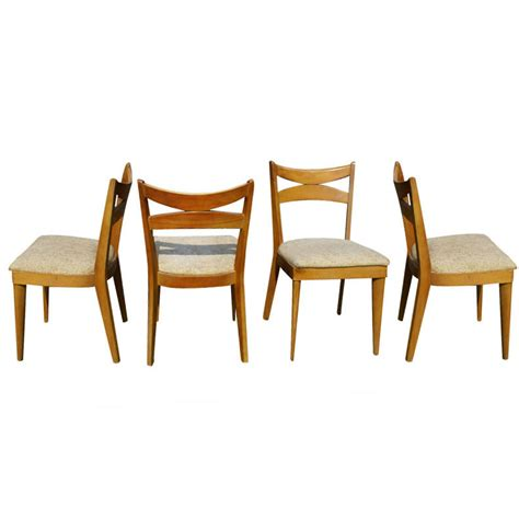 Heywood Wakefield Dining Table And Chairs Metro Retro Furniture Heywood Wakefield Dining Table 4 Side Chairs Set
